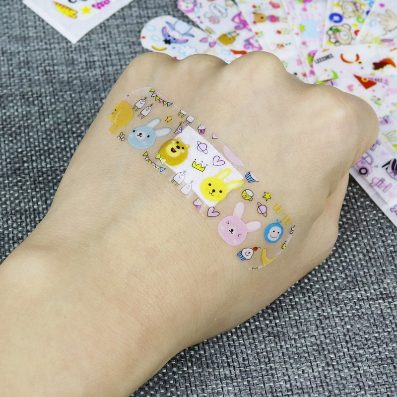 120 Pcs Children Cartoon Bandages Adhesive Bandages Wound Plaster First Aid Hemostasis Band Aid Sterile Stickers For Kids B