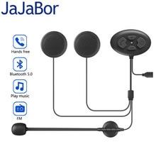 JaJaBor auriculares inalámbricos para casco de motocicleta, cascos con Bluetooth 5,0, manos libres, con respuesta automática, para música de Moto y Radio FM