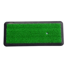 Buy Green Golf Mat Golf Training AidsHitting Pad Practice Grass Mats Game Golf Training Mat Outdoor/Indoor 1PC directly from merchant!