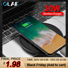 OLAF Wireless Charger Receiver for iPhone Xs Max X 8 Plus 10W Fast Cha