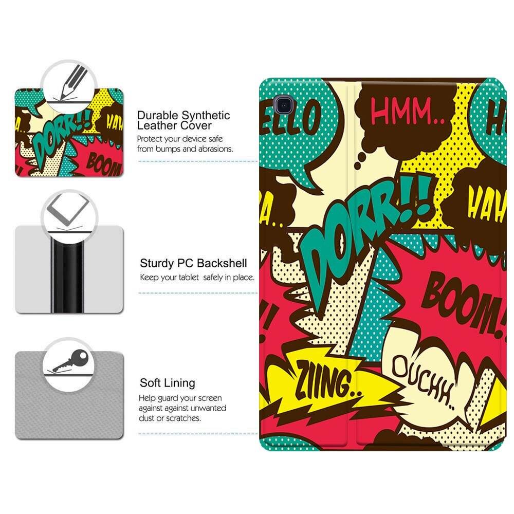Чехол для планшета Samsung Galaxy Tab s6/Tab A A6 7 10 / Tab E S5E граффити искусство Кожаная подставка складной противоударный защитный чехол-5