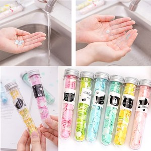Portable Outdoor Hand Washing Bath Shower Scented Confetti Dish Foaming Mini Paper Slice For Travel Cleaning Color Random TSLM2