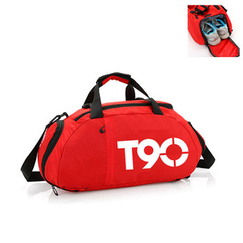 2019 New T90 Men Sport Gym Bag Women Outdoor Gym Fitness Bags Separate Space for Shoes Pouch Rucksack Hide Backpack 1