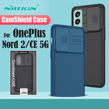 Do obudowy OnePlus Nord 2 CE 5G NILLKIN obudowa CamShield osłona obiektywu osłona prywatności osłona telefonu One Plus Nord 2 5G tanie i dobre opinie CN (pochodzenie) Częściowo przysłonięte etui Slide Camera Protection Case Zwykły Black Blue 6 43 inch Case For OnePlus Nord CE 5G
