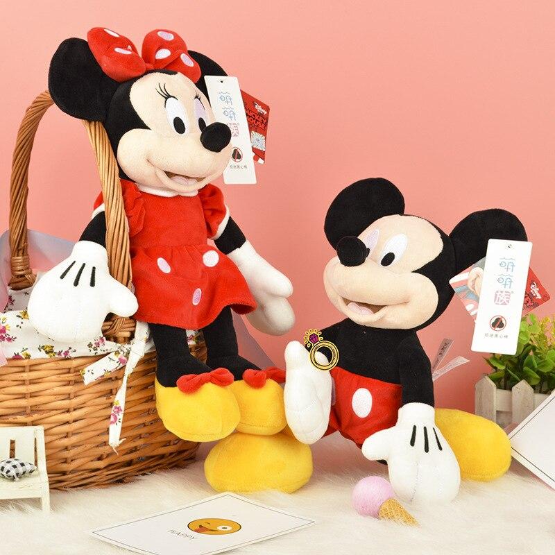 Disney 30/46/80cm Plush Toys Mickey Mouse Minnie Cute Animal Stuffed Dolls PP Cotton Hot Toys Birthday Christmas Gift For Kids