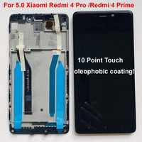 Pantalla LCD Original para Xiaomi Redmi 4 Pro Redmi 4 Prime ROM-32G, marco de Digitalizador de Panel táctil, 5,0