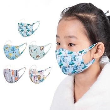 #35 Kids Washable Mask Printed Children Mask Fashionable Face Covers Masks Mascarillas Infantiles Mondkapjes Wasbaar Print