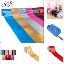 JOJO BOWS 75mm 2y Leather Ribbon Solid Laser Mirror Webbing Festival Party Home Decoration Handmade Craft Material DIY Hair Bows