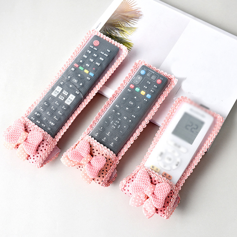 1PC Rural Fabric And Lace Video Home TV Air Condition Remote Controller Protector Case Cover Waterproof Dust For Home Size S/M/L