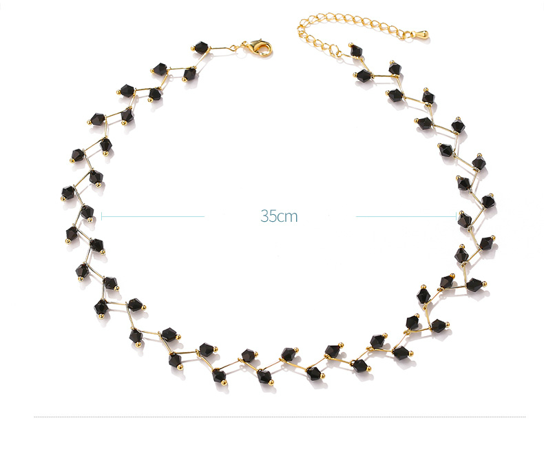 Hab891e48f0e74dd0a3f73c238a85a08eT - Fashion Gold Necklace for Women Charming Black Crystal Beads Chain Chokers Handmade Party Jewelry collares Accessories