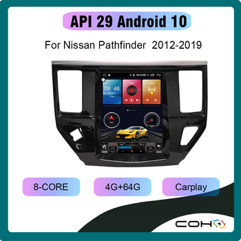 10.4'' Android 10.0 8-Core 4+64G Navigation Radio Android For NISSAN Pathfinder 2012-2017 image