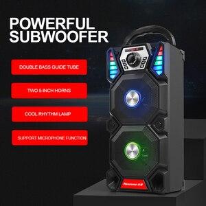 Image 4 - Newmine A1 휴대용 DJ 플레이어 무선 블루투스 야외 높은 전원 파티 LED 빛 오디오 서브 우퍼 스피커 지원 컴퓨터