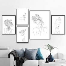 Черно белые простые линии рисования плакаты и принты абстрактный