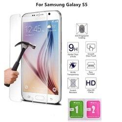 AAA + + + 100% Новая пленка из закаленного стекла для samsung Galaxy S5 защита экрана 9H Wtih салфетки