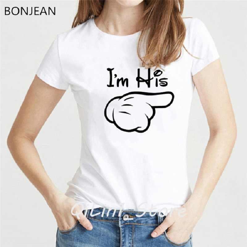 ของเขา hers คู่เสื้อ t สำหรับสามีภรรยาคนรักเสื้อยืดผู้หญิงผู้ชาย Mr Mrs Valentine เสื้อยืด tshirt ตลกกราฟิก t เสื้อ