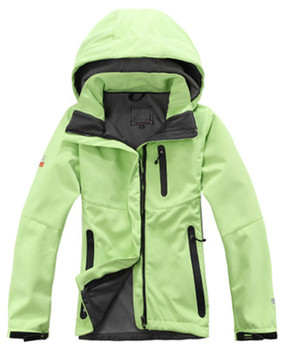 Soft Case Raincoat Women's Waterproof Fleece Autumn And Winter Outdoor