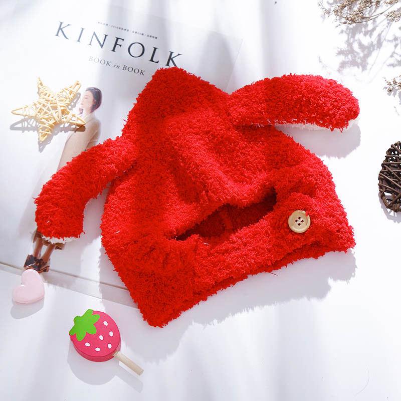 Beanie Hat Skullies-Cap Rabbit-Ear Girl Winter Cotton Cartoon Thicken for Kid Boy And