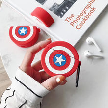 Air Pods 2 Cute Hero Shield Accessorios Silicone Cartoon Earphone Cases For Apple Airpods Wireless Bluetooth Headset Soft Cover(China)
