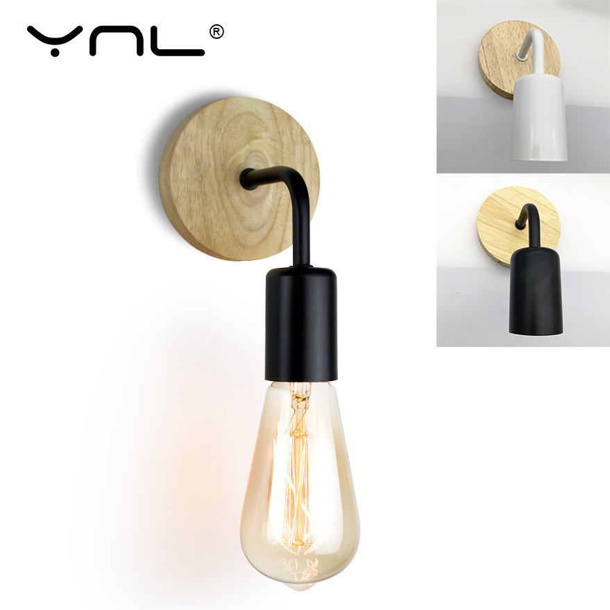 Retro Industrial Wood Wall Lamp Loft Vintage Decor Wall Light Fixtures For Living Room Home Hotel Sconces Lighting Decorative 1