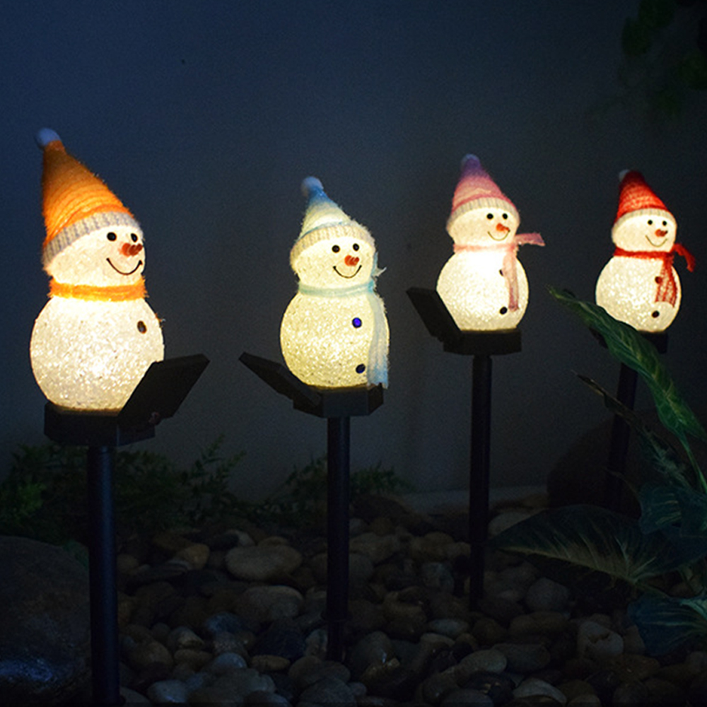 Solar Snowman Lights emitting-color: Blue|Blue and Pink|Pink|Red|Yellow  https://flxicart.com