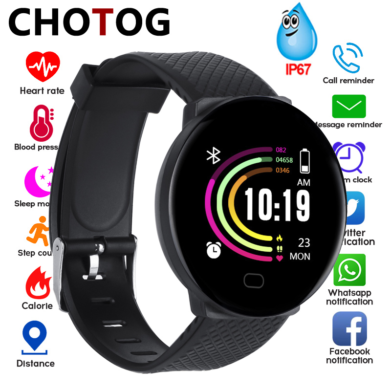 Smart Bracelet 1.3'' Screen  Pedometer Fitness Tracker Ip67 Waterproof Blood Pressure Heart Rate Monitor Smart Band Women Men