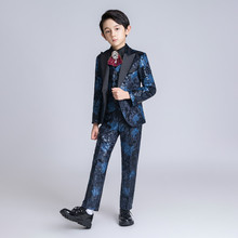 YuanLu New Kids Suits For Boy Luxury Velvet Suits For Weddin