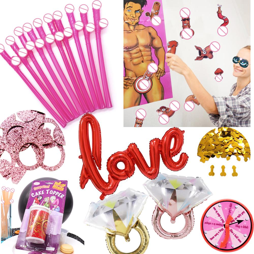 10Pcs Willy Straws Bride Shower Sexy Hen Night Willy Drinking Penis Novelty Nude Straw For Bar Bachelorette Party Accessories
