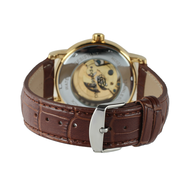 de couro analógico vestido relógio pulseira de