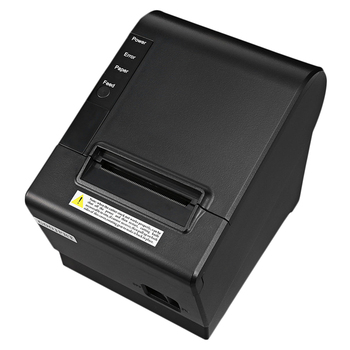HOT-Small Pos Printer 200Mm/S 80Mm Receipt Thermal Printer with Usb Lan Ethernet Port Auto Cutter Bill EU Plug