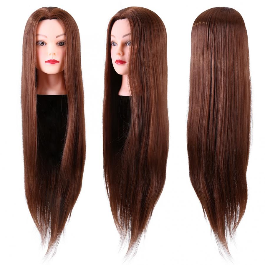 Mannequin Synthetic Fiber Mannequin Head Hairdresser Training Head Cosmetology Doll Head  Head For Hairstyles