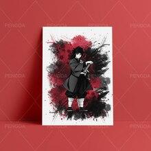 Canvas Paintings Demon Slayer Kimetsu No Yaiba Wall Art HD Print Japanese Anime Poster Home Decor Modular Pictures For Bedroom недорого