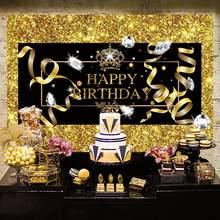 Décorations de fête d'anniversaire, décor noir et or joyeux 50 40 30, fournitures de fête d'anniversaire pour adulte de 50e 30e 40e anniversaire Anniversar 30e