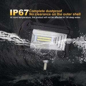 Image 4 - Nlpearl 5 אינץ 72W אור בר/עבודת אור ספוט & מבול קרן LED עבודה אור ערפל מנורת עבור מכביש משאית סירת טרקטורונים LED אור בר 12V