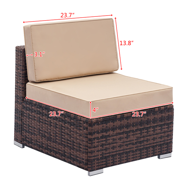 Fully Equipped Weaving Rattan Sofa Set  5