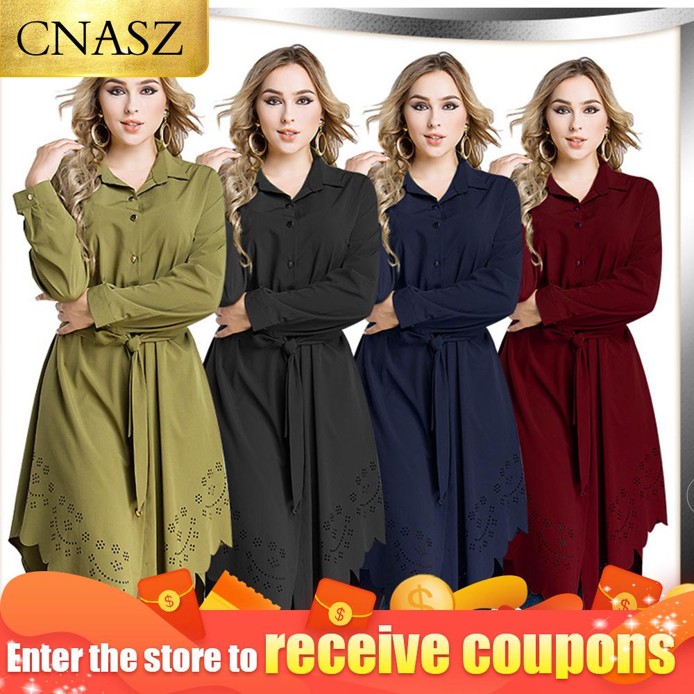 Long Tops Islamic Clothing Robes Malaysia Abaya Dubai Muslim Women Blouse Shirt plus size 6XL muslim tops Blouse