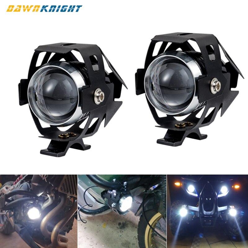 Motocicleta auxiliar luzes led acessórios à prova dwaterproof água led ao ar livre spotlight farol com lente u5 led universal nevoeiro lâmpada