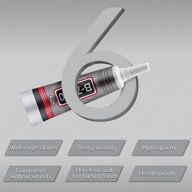50ml Multi-Funktion B-7000 Klebstoff Kleber für DIY Schmuck Smart Telefon Elektronische Komponenten Spielzeug Glas Holz Gummi Keramik