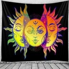 Macrame Tapestry Boho-Decor Wall-Hanging Psychedelic Mandala Indian The Sun-God