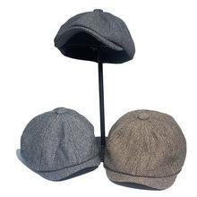 2020 boina bonés ao ar livre sol respirável chapéus lisos das mulheres dos homens ivy boné cor sólida duckbill chapéus vintage gatsby boina chapéu