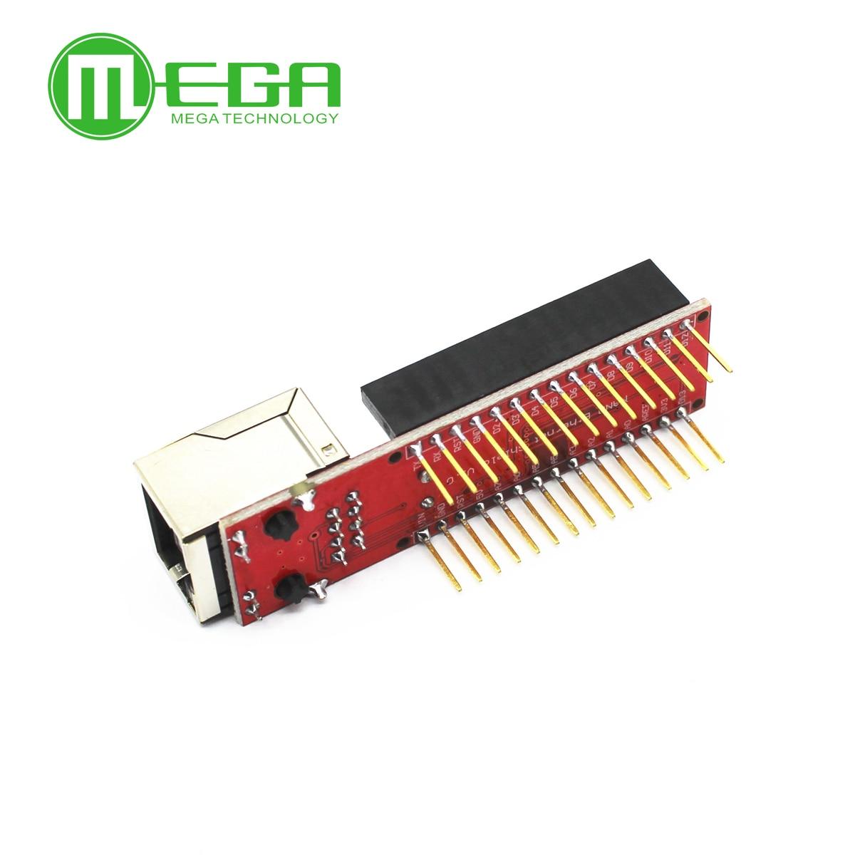 10 stücke Nano V3 Ethernet Schild ENC28J60 Microchip HR911105A Ethernet Webserver Board Modul für Arduino Nano 3,0