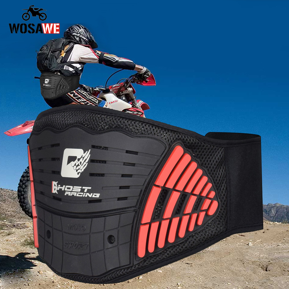 GHOST RACING Motorcycle Belt Waist Support Protection Bicycle Kidney Protective Belt Off-Road MTB Protect Locomotive Anti-Fall