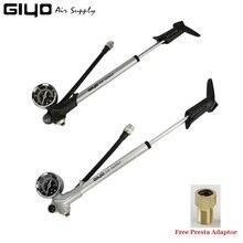 Giyo 300psi MTB הלם מזלג משאבת רדר שסתום צמיג אופניים מיני אוויר Inflator רכיבה על אופניים נייד מזלג השעיה אחורי יד משאבת