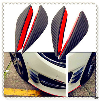 Car Bumper Lip Fin Splitter Spoiler Canard For Mercedes Benz E53 C63 C43 C-Class AMG GL550 F800 A200 ML500 ML350 GL450 A180 image