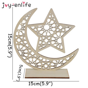 Image 4 - Ramadan Eid Mubarak Decorations For Home Moon Wooden Plaque Hanging Ornaments Islam Muslim Festival Event Party Supplies