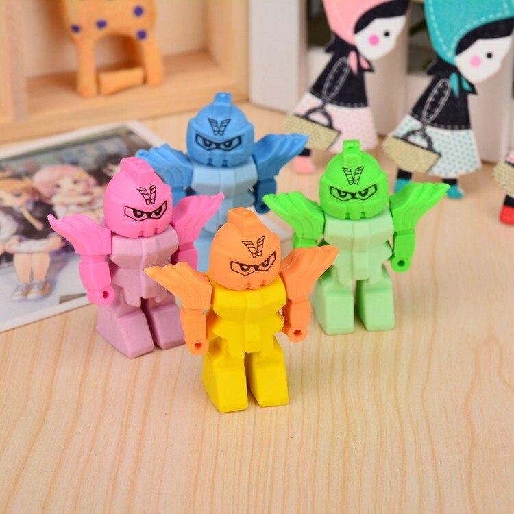 20 Pcs Robot Eraser Cute Creative Stationery Korea Stationery Gift Wholesale Prizes For Kids