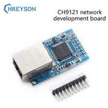 Placa de desenvolvimento de rede ch9121 porta serial ao módulo ethernet servidor de porta serial única microcomputador módulo de rede
