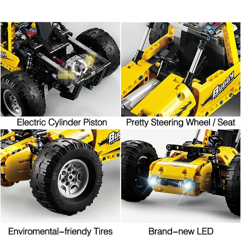522 шт 2,4 ghz Technic City Rc вездеход внедорожные скалолазание машины Legoinglys внедорожные гоночные строительные блоки игрушки - 6