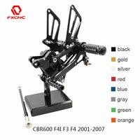 For Honda CBR600 CBR 600 F4I F3 F4 2001 2007 02 04 CNC Aluminum Adjustable Motorcycle Rearset Rear Set Foot Peg Pedal Footrest