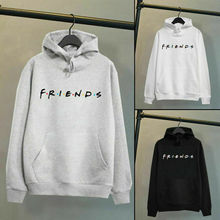 Harajuku Men Women Friends Print Hoodies Pullover Cool Lette