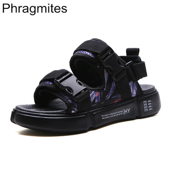 Phragmites 2020 Fashion Men Sandals Summer Students Sandals Beach Roman Men Shoes Summer Flat Sandal Sandal Slippers Casual Hook